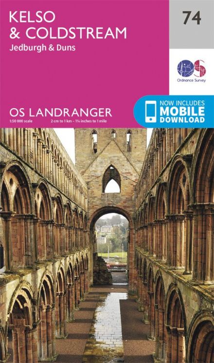 OS Landranger 74 Kelso and Colstream